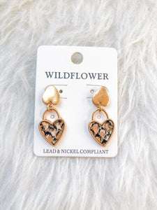 Key To My Heart Snake Earrings