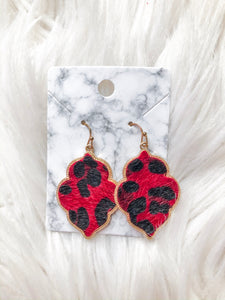All About You Red Leopard Earrings
