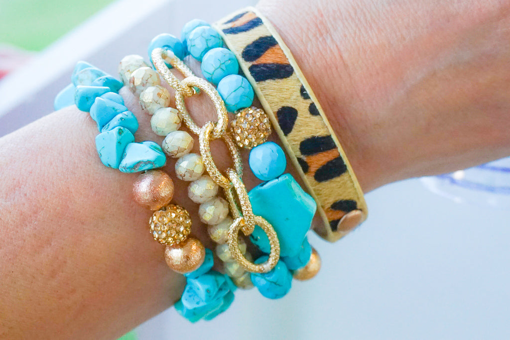 The More The Better Bracelet Stack- Turquoise
