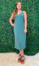 Load image into Gallery viewer, Stay Positive Teal Midi Dress
