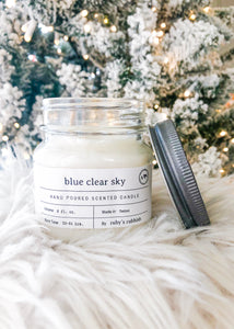 Blue Clear Sky Candle