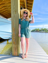 Load image into Gallery viewer, It's All About You Teal Romper
