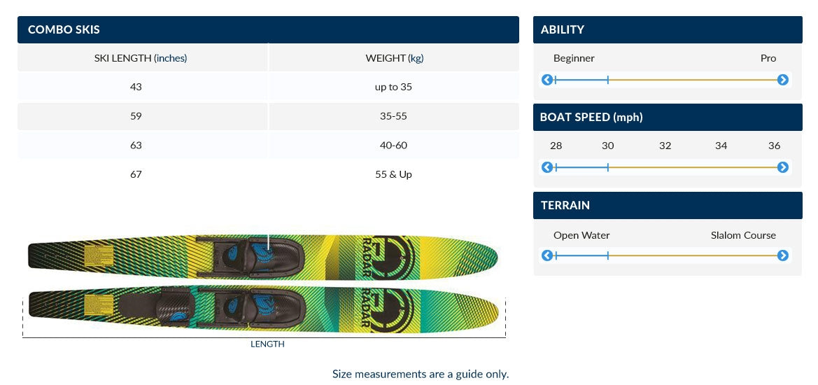 OBrien Performer Combo Water Skis With X8 Boots