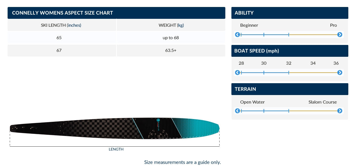 CONNELLY ASPECT WOMENS SLALOM SKI