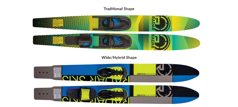 Traditional & Wide Combo Ski Shapes