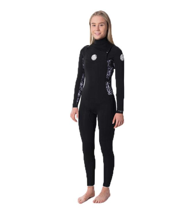 Ripcurl Dawn Patrol Womens 4/3mm Chest Zip Steamer (2020) - Waterskiers World
