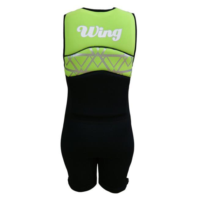 Wing Divine Womens Buoyancy Suit (2018) - Green Front