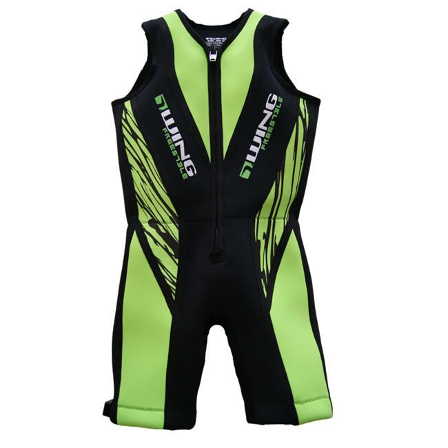 Wing Freestyle Boys Buoyancy Suit (2018) - Green front
