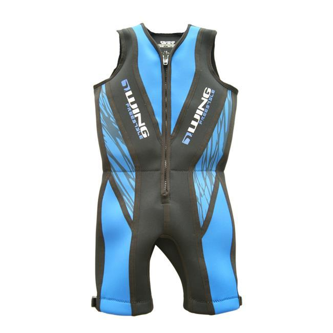 Wing Freestyle Boys Buoyancy Suit (2018) - Blue front