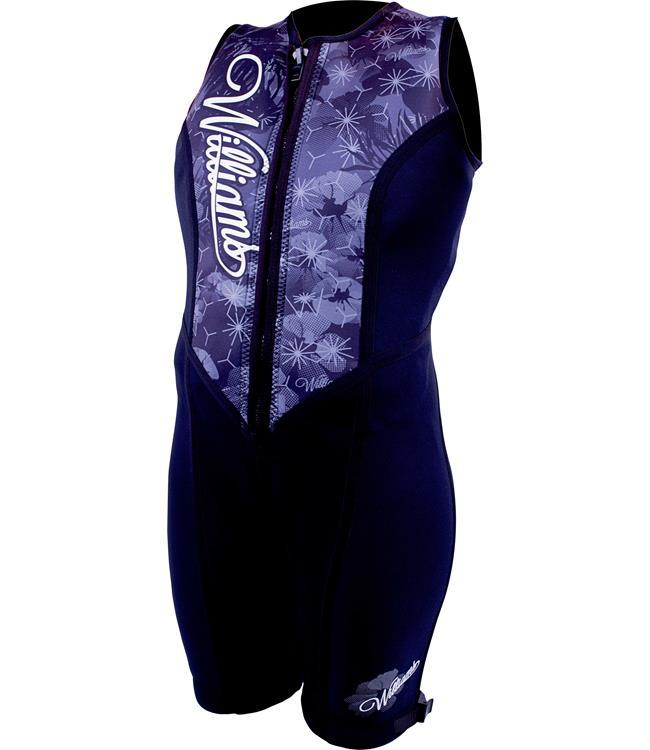 Williams Eden Womens Buoyancy Suit (2021) - Black