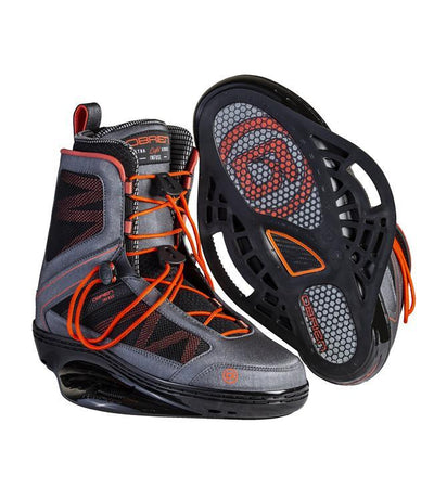 OBrien Infuse Wakeboard Boots (2021) - Grey - Waterskiers World