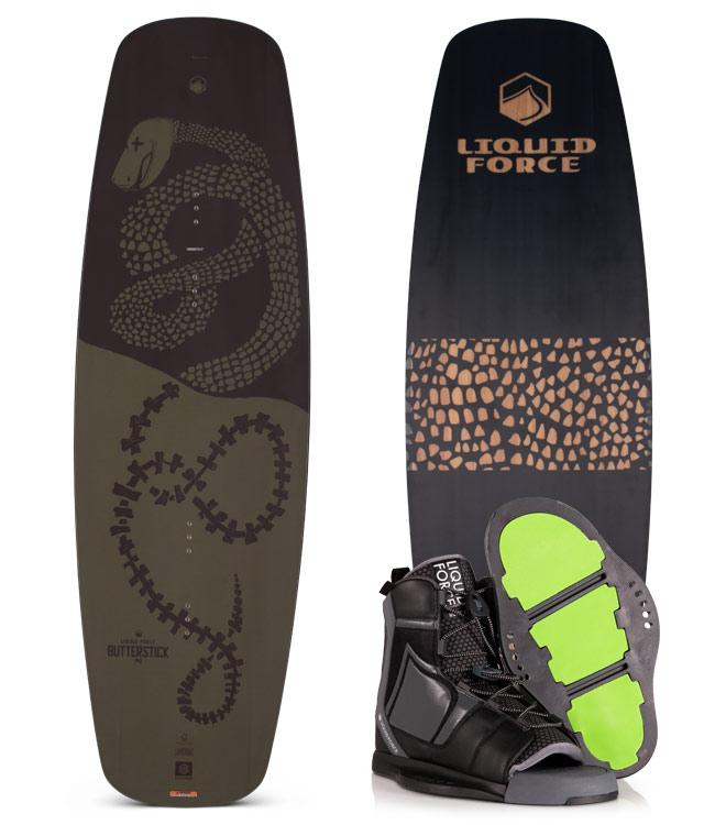 Liquid Force Butterstick Wakeboard Package with Index Boots (2020)