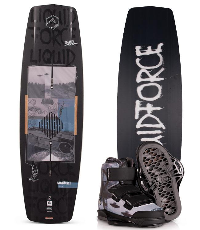 Liquid Force Butterstick Pro Wakeboard Package with Hook Boots  (2020)