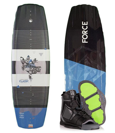 Liquid Force LTD Classic Wakeboard Package with Index Boots (2020)