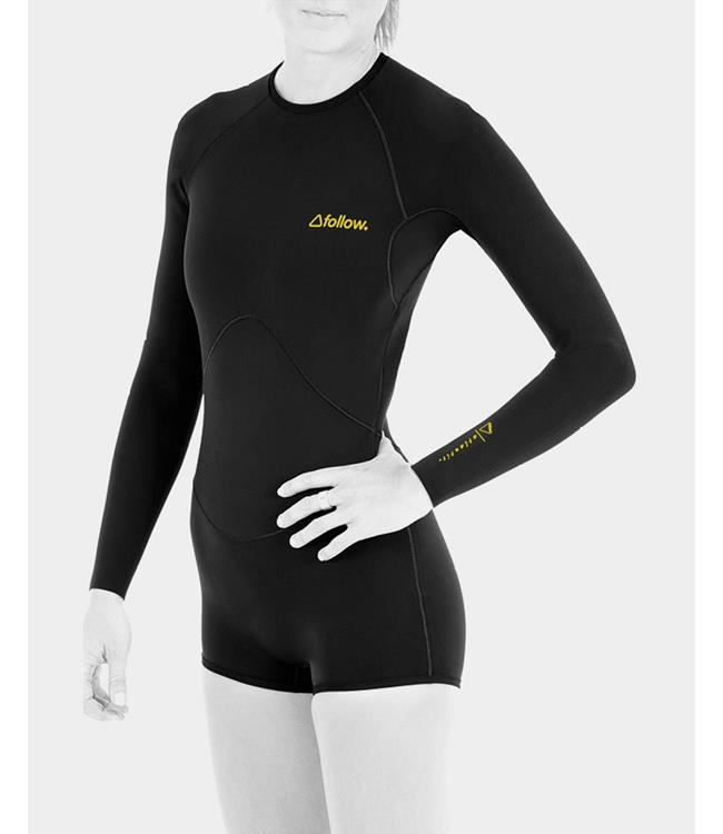 Follow Atlantis Womens Long Sleeve Springsuit (2020) - Black