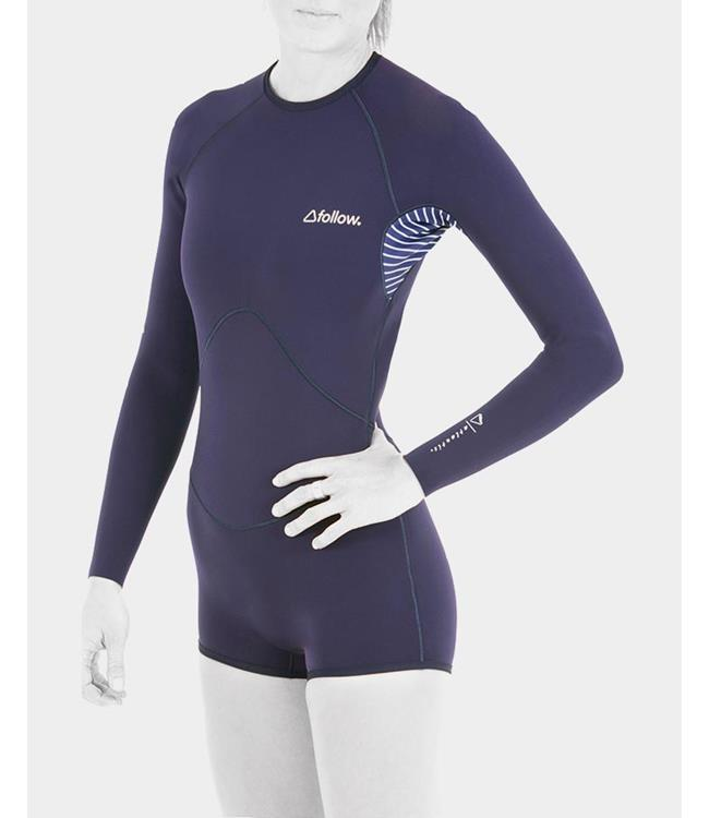 Follow Atlantis Womens Long Sleeve Springsuit (2020) - Navy