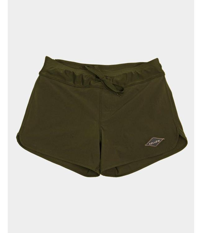 Follow Pharaoh Womens Ride Shorts - Olive
