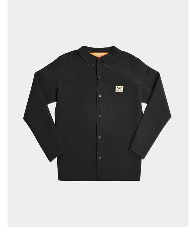 Follow Neoprene Mens Button Up Coach (2020) - Black