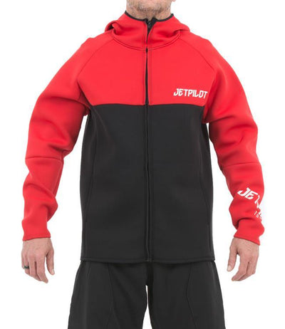 Jetpilot Flight Mens Hooded Tour Coat (2020) - Red - Waterskiers World