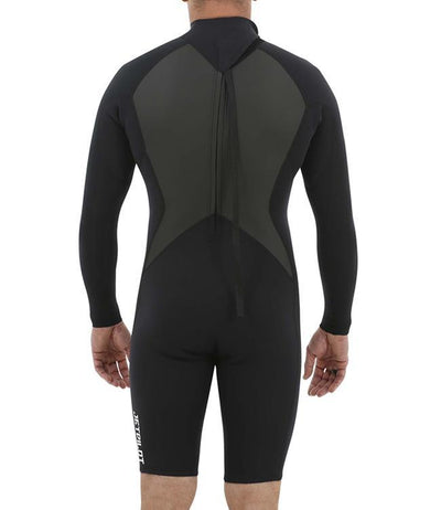 Jetpilot Flight Back Zip 3/2mm Long Sleeve Springsuit (2020) - Black