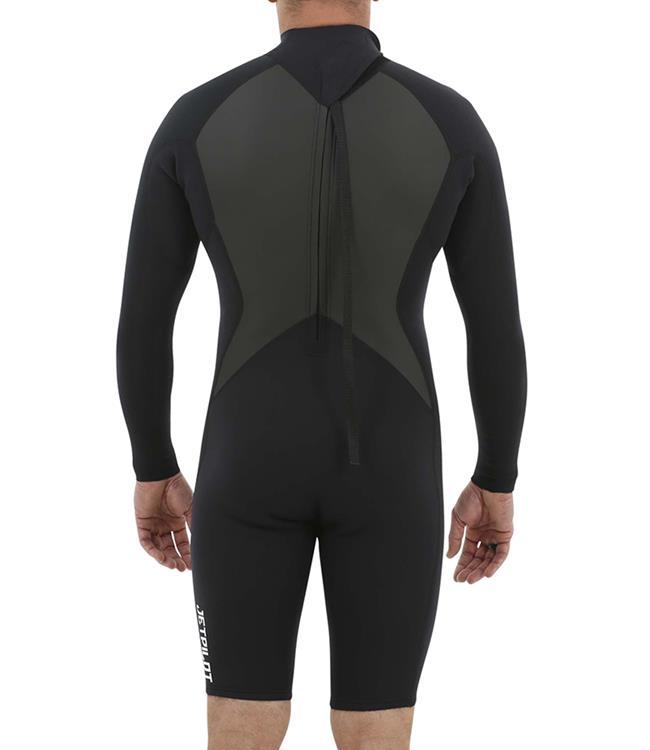 Jetpilot Flight Back Zip 2/2mm Long Sleeve Springsuit (2020) - Black - Waterskiers World