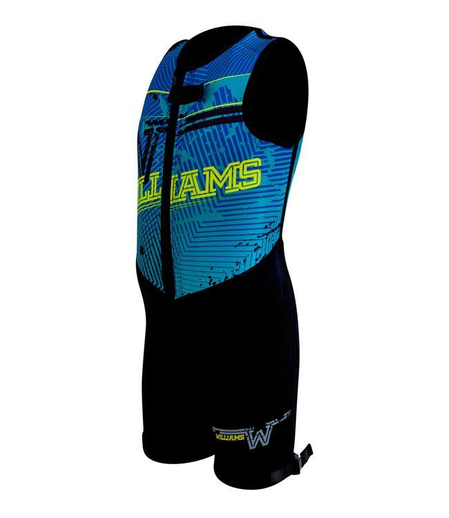 Williams Competitor Youth Barefoot Suit (2021) - Blue