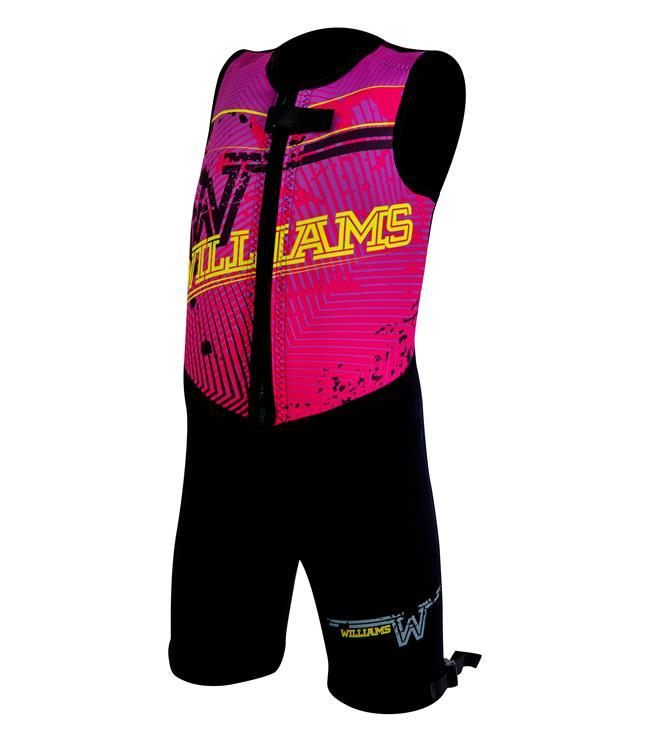 Williams Competitor Youth Barefoot Suit (2021) - Pink - Waterskiers World