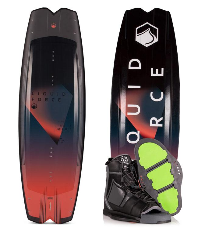 Liquid Force Remedy Wakeboard Package with Index Boots (2020)