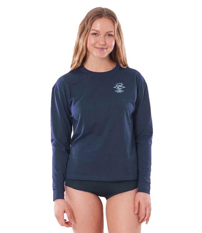 Ripcurl Searchers Womens Long Sleeve UV Tee (2021) - Navy