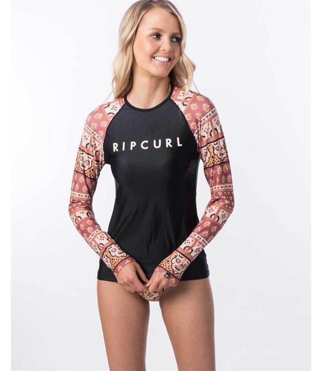 Ripcurl Coastal Tides Womens Long Sleeve Rashy (2020) - Rust