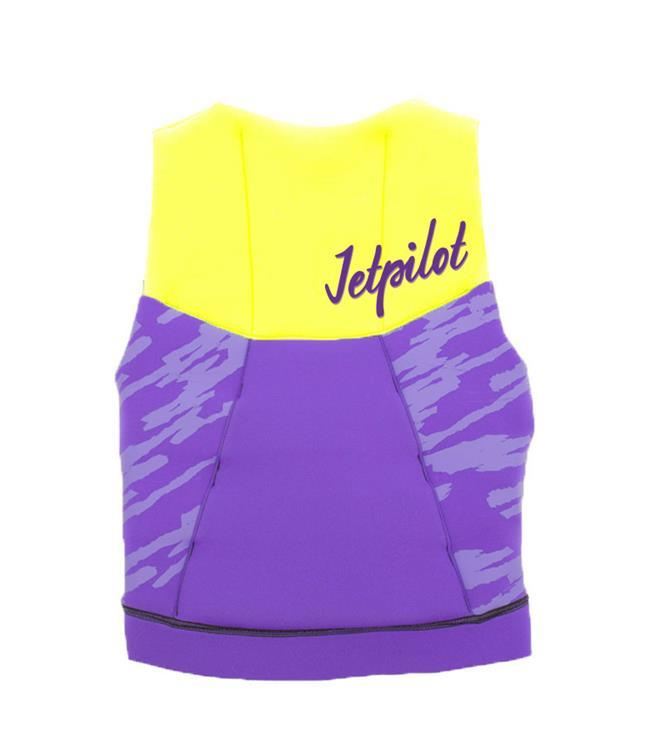 Jetpilot The Cause Girls L50 Life Vest (2019) - Yellow/Purple front