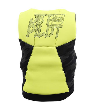 Jetpilot The Cause Boys L50 Life Vest (2019) - Yellow back