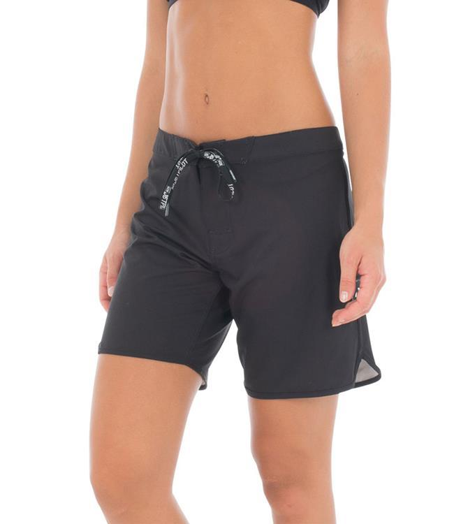 "Jetpilot Staple 7"" Womens Rideshorts (2018) - Black/Silver MAIN"