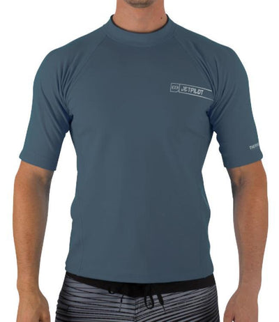 Jetpilot F-15 Short Sleeve Therma Fleece (2018) - Charcoal FRONT