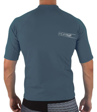 Jetpilot F-15 Short Sleeve Therma Fleece (2018) - Charcoal BACK