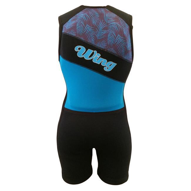 Wing Ariel Womens Buoyancy Suit (2018) - Blue Front