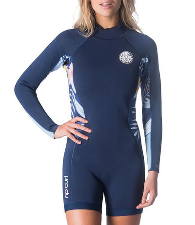 Ripcurl Dawn Patrol Womens Long Sleeve Springsuit (2019) - Navy MAIN