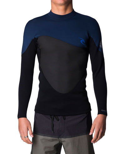 Ripcurl Omega Mens Heater Top (2019) - Navy FRONT