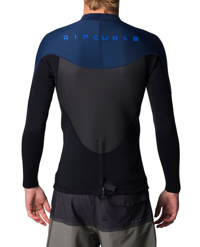 Ripcurl Omega Mens Heater Top (2019) - Navy BACK