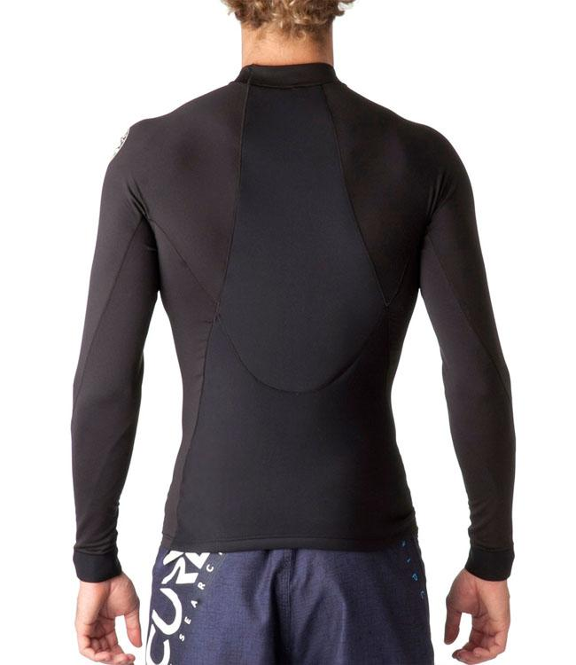 Ripcurl Flashbomb Mens Neo Lycra Heater Top (2018) - Black