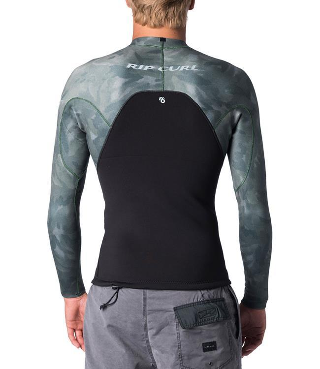 Ripcurl E-Bomb Mens 1.5mm Heater Top (2019) - Camo