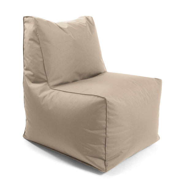 Sitzsack-Sessel Innovation 'Der Ruhepol' mit Hocker oder als Bean Bag #sku_BB1.1out-065khaki