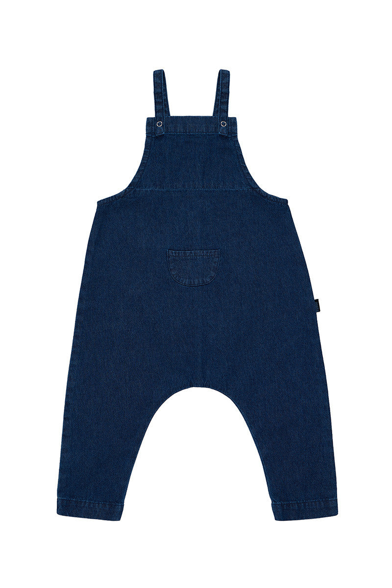 Bonds baby overalls | dark blue denim - Cuddle Factory