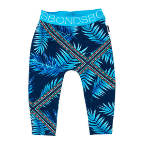 Bonds stretchies leggings | Blue forest fiesta