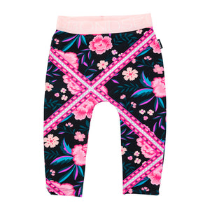 Bonds stretchies leggings | Pink tapestry floral - Cuddle Factory
