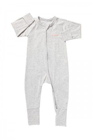 Bonds Wondersuit zippy | Stripey Grey onesie - Cuddle Factory