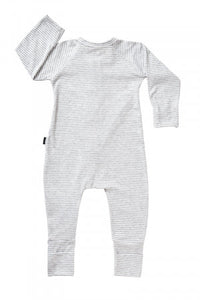 Bonds Wondersuit zippy | Stripey Grey onesie
