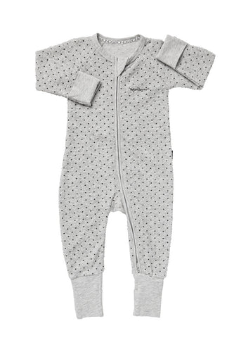 Bonds Wondersuit | Poodelette grey dotted onesie - Cuddle Factory