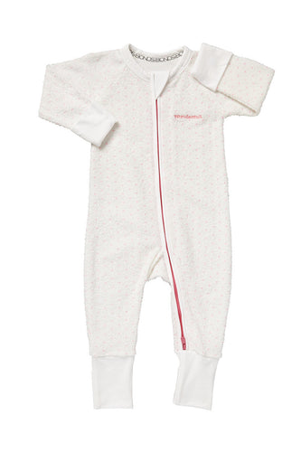Bonds Wondersuit | Poodelette pink dotted onesie - Cuddle Factory