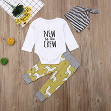 New to the Crew - Lama | 3 piece Baby outfit - Cuddle Factory